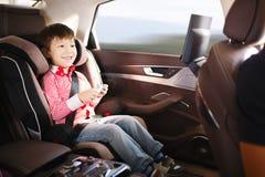 Lyx behandla som ett barn bilsätet för säkerhet Arkivfoto