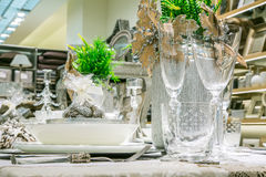 Lyx dekorerad tabell Royaltyfri Foto
