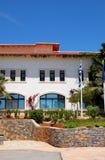 lyx för hotell för byggnadsflagga grekisk Royaltyfri Bild