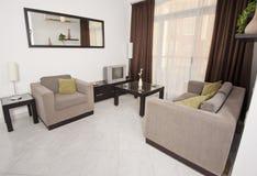 lyx för lägenhetdesigninterior Arkivfoton