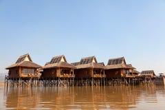 Lyx- hotell på Inle sjön, Myanmar Fotografering för Bildbyråer