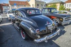 1948 lyx- Plymouth för 2 dörr sakkunnig Arkivfoto