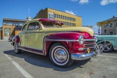 Lyx- Plymouth sakkunnig 1948 Fotografering för Bildbyråer