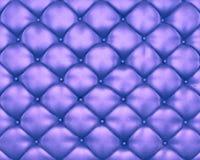 Lyx texturerar av blåttlädermöblemang med knäppas Fotografering för Bildbyråer
