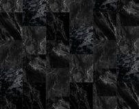 Lyxen av svarta marmortegelplattor textur och bakgrund Arkivbilder