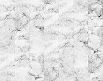 Lyxen av vita marmortegelplattor textur och bakgrund Fotografering för Bildbyråer