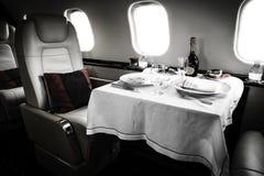 Lyxig affär Jet Interior Arkivfoton