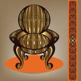 Lyxig arab Handcrafted fåtölj stock illustrationer