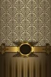 Lyxig bakgrund för tappning med den dekorativa ramen Arkivbilder