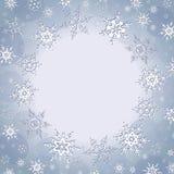 Lyxig bakgrund för vinter med snöflingor Arkivbilder