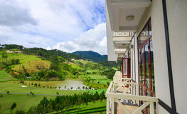 Lyxig bergsemesterort i Dalat, Vietnam Arkivfoton