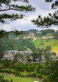 Lyxig bergsemesterort i Dalat, Vietnam Arkivbilder