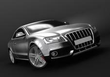 Lyxig bil i en mörk bakgrund Arkivbild