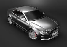 Lyxig bil i en mörk bakgrund royaltyfria bilder