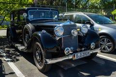 Lyxig bil Mercedes-Benz Typ 290 W18, 1933 Royaltyfria Bilder