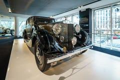 Lyxig bil Rolls-Royce Phantom III turnera Limousine, 1937 Royaltyfria Bilder