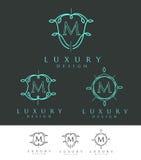 Lyxig bokstav Logo Monogram Royaltyfri Fotografi