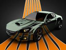 Lyxig brandless sportbil Arkivbild
