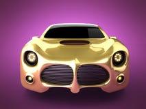 Lyxig brandless sportbil Arkivfoton
