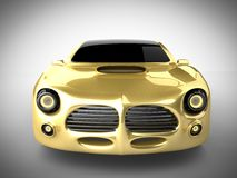 Lyxig brandless sportbil på vit bakgrund Arkivbilder