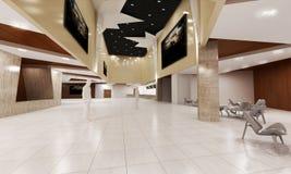 lyxig byggande lobby Arkivfoto