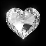 Lyxig diamanthjärta Fotografering för Bildbyråer