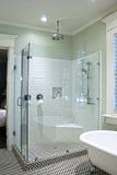 lyxig dusch Fotografering för Bildbyråer