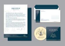 Lyxig företags identitet företags redigerbar identitetsmall Brevpappermalldesign Royaltyfri Bild