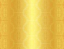Lyxig guld- bakgrund med prydnadmodellen Royaltyfria Foton