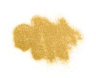 Lyxig guld blänker mousserar isolerat fotografering för bildbyråer