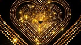 Lyxig guld- hjärtaetapp 4K