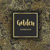 Lyxig guld- modern bakgrund eller kort Arkivbild