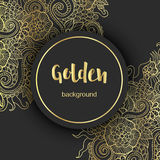 Lyxig guld- modern bakgrund eller kort Royaltyfri Bild