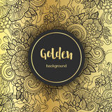 Lyxig guld- modern bakgrund eller kort Arkivbilder
