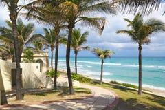 Lyxig herrgård på sjösidan i Palm Beach Royaltyfri Bild