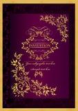 Lyxig inbjudanbakgrund Royaltyfri Illustrationer