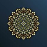 Lyxig islamisk modell stock illustrationer