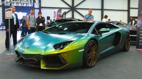 Lyxig italiensk supercar på den kungliga auto showen Fotografering för Bildbyråer