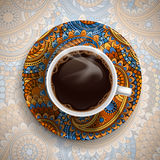 Lyxig kaffekopp Arkivbilder