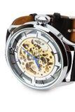Lyxig klocka som isoleras på den vita bakgrunden Royaltyfri Foto