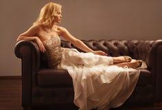 Lyxig kvinna arkivfoton
