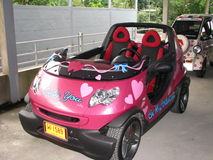 Lyxig liten bil Arkivfoton