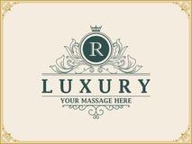 Lyxig logo royaltyfri bild