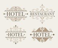 Lyxig logo- och monogrammalluppsättning Royaltyfri Foto