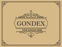 Lyxig logomall i vektorn för restaurangen, royalty, boutique, kafé, hotell som är heraldiskt, smycken arkivfoto