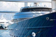 lyxig marinayacht Royaltyfri Fotografi