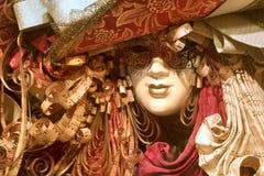 lyxig maskering venice Royaltyfri Bild