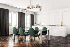 Lyxig matsal och kök, gräsplanstolar Royaltyfri Fotografi