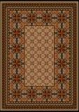 Lyxig matta med den original- modellen med bruna skuggor Royaltyfri Fotografi