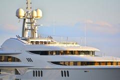 Lyxig mega yacht Royaltyfria Foton